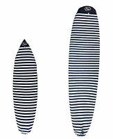 "Surfboard Sock Cover - Light Protective Bag for your Surf Board 9'6"" Black/White"