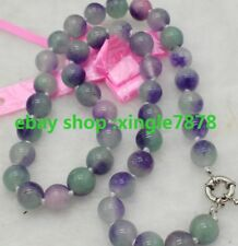 """Round Beads Gemstones Necklace 20""""Aaa+ Natural Hand Made 8mm Multi-color Kunzite"""