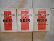 Les Hommes en Noir - René Vigo - Tomes 1 à 3