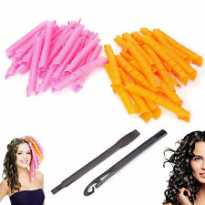 24PCS 50CM Curl DIY Hair Curlers Tool Styling Rollers Spiral Circle Magic Roller