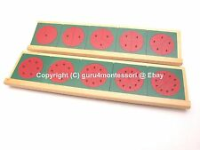 New Montessori Mathematics Material - Metal Fraction Circles with Stands
