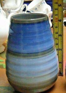 Small Shelley Art Deco Harmony Vase 4.5 Inches Tall Blue Grey #954