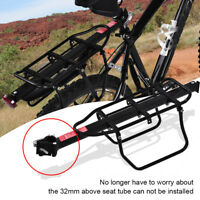 Bike Bicycle Quick Release Luggage Seat Post Pannier Carrier Rear Rack Fender US
