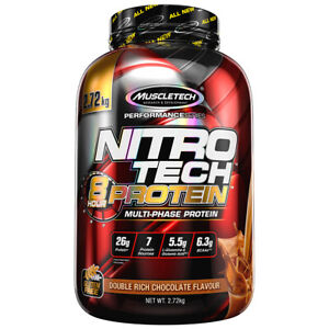 MuscleTech NitroTech Post Workout 8 Hour Protein Double Chocolate Flavour 2.72kg