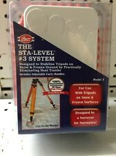Byers Sta-Level #3 System. Surveyor Tripod Stand. Frozen Ground. USA