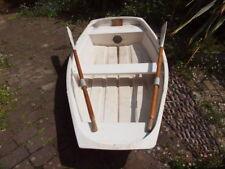 8' GRP rowing boat, tender, dinghy with rowlocks & oars