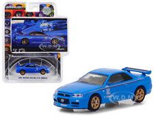 2001 NISSAN SKYLINE GT-R BNR34 BLUE BFGOODRICH VINTAGE AD 1/64 GREENLIGHT 29944