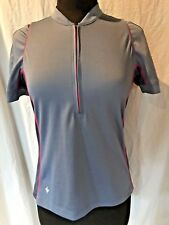 Specialized Cycling Bike Race Jersey Gray with Pink 1/4 Zipper Women's Medium