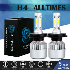 H4 9003 LED Headlight Kit 2400W 295000LM High-Low Beam Bulbs Lamp 6000K White AT