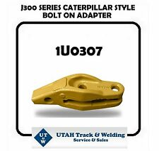 "Caterpillar style 1U0307 bolt-on adapter for a J300 series with a 1"" lip"