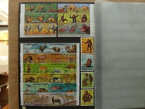 Burundi and Guinea Cancelled stamps Animal Kingdom of Africa Black Font #7