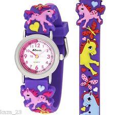 Ravel Pony Caballo profesor de tiempo de diseño Esfera Blanca Niños Reloj R1513.70