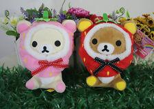 rilakkuma set of 2pcs stawberry bear plush doll wedding ornaments gift toy new