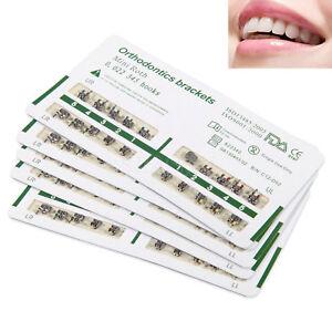 20 Packs Dental Orthodontic Metal Bracket Braces Roth 022 with Slot 3-4-5 Hooks