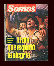 SOCCER WORLD CUP 1986 MARADONA -  ARGENTINA World Champion - Magazine