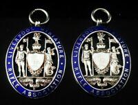 Silver Enamel Liverpool Miniature Rifle Association Pocket Watch Fob Medal