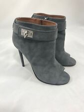 NWOB Givenchy Shark-lock Open Toes Booties in Gray Size 37