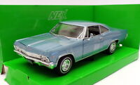 Welly 1/24 Scale Model Car 22417W - 1965 Chevrolet Impala SS 396 - Lgt Blue
