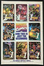 Deadpool Alpha Flight Man Thing #1 Print Ad Comic Poster Art PROMO Official