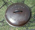 griswold no. 9 cast iron dutch oven lid only large block logo fully restored