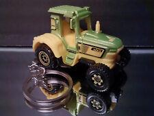 Green Yellow Farm Tractor Key Chain Ring