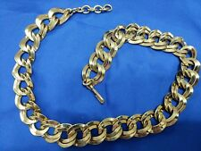 """Runway Monet gold tone double link 20"""" x 3/4"""" necklace"""