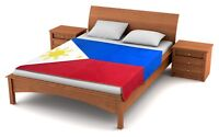 "Fuzzy Flags™ Philippines Flag Fleece Blanket 80"" x 50"" Oversized Throw Cover NIB"