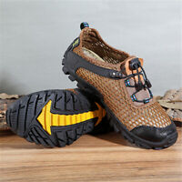 US Men's Mesh Sport Hiking Sneakers Outdoor Shoes Breathable Climbing
