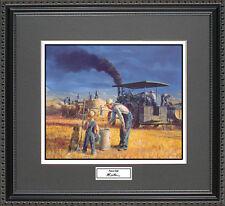 Mort Kunstler PRAIRIE GOLD Framed Wall Art Farm House Farmer Tractor Harvest