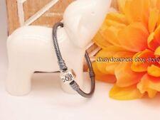NEW Authentic Pandora Silver OXIDIZED BARREL CLASP CHARM Bracelet 23 9.1 RETIRED