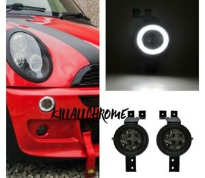 Led Halo Ring Turn Signal Light DRL For Mini Cooper R50 Gen 1 (01-06) SMOKED R53