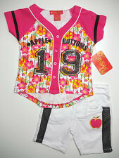 Apple Bottom Girl's Outfit Shirt & Shorts Set Size 24 Months