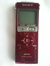 Sony ICD-UX200 Digital Voice Recorder with Built-In Stereo Microphone (Dark Red)