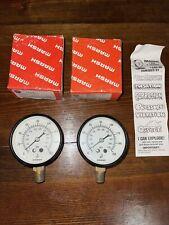 Vintage psi Marsh Instrument Co Gauge Lot (2) B13 New in Box 0-160 psi Steampunk