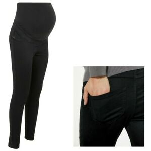 Maternity New Look LIFT & SHAPE Over Bump Jeggings Jeans Black Sizes 8 - 18