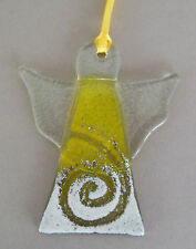 Engel zum Hängen aus Glas, ca. 10 cm hoch, Farbe: gelbopal Schutzengel EW1157
