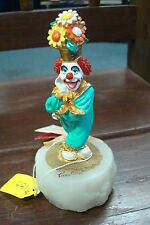 RON LEE WORLD OF CLOWNS 1990 CCG4 #C90 CLOWN WITH FLOWERS FOR A HAT