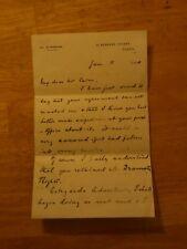 RARE -- William Heinemann SIGNED 1890 letter to writer Hall Caine -- Bram Stoker