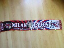 écharpe de football vintage AC Milan - Olympique Lyonnais 2006 Taille Unique