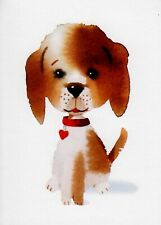 Hallmark Whimsical Puppy Dog Blank Note Card White Envelope