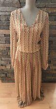 NWT Jennifer Jen for Anthropologie 100% Silk Maxi Dress - Pixel Print - Size 12