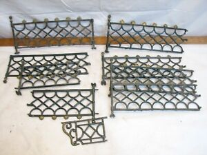 Early Cast Iron Toy Doll House Fence Feather Tree Fencing Set Christmas Train