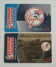 2006-08 Dunkin Donuts Gift Cards. NEW YORK  YANKEES. Mint. Worldwide shipping.