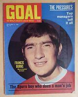 GOAL FOOTBALL MAGAZINE - 6.12.69 - ISSUE 70 - FRANCIS BURNS - IPSWICH TOWN TEAM