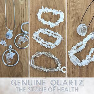 5 pcs QUARTZ  Wholesale Genuine Gemstone Jewellery Bracelets Pendants or Charms