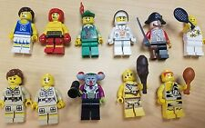 Lego Collectible Minifigure lot of 11, Forestman Cheerleader Pirate Cave & More