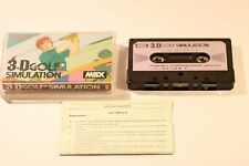 RARE SONY MSX GAME 3-D GOLF SIMULATION 1984 CASSETTE GAME (JAPAN )