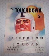 Vintage 194? High School Football Program Jefferson vs Jordan Los Angeles CA