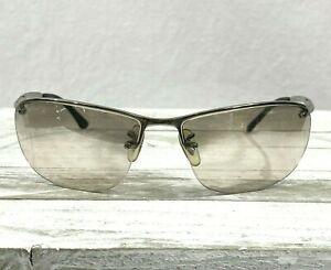 Ray Ban RB 3187 Top Bar Big Mens Wrap Sunglasses Frames Only Silver 63▯15