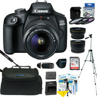 Canon EOS 4000D / Rebel T100 18MP Digital SLR Camera 18-55mm Lens ALL U NEED KIT
